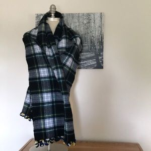 J. Crew Campbell Dress Plaid Oversized Wool Scarf
